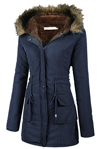 Beyove Womens Military Hooded Warm Winter Faux Fur Lined Parkas Anroaks Long Coats by Beyove (Image #1)