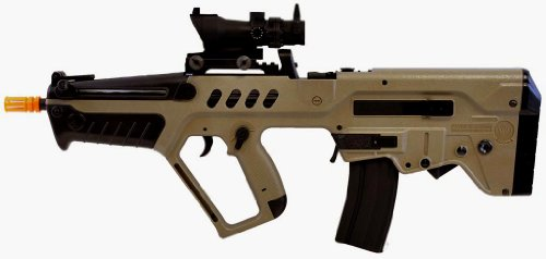 umarex tavor 21 desert tan aeg airsoft rifle w/ tactical dot sight(Airsoft Gun)