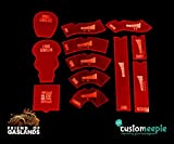 Game Accessories - Friends of Gaslands Customeeple NFS Templates - Assorted Colors