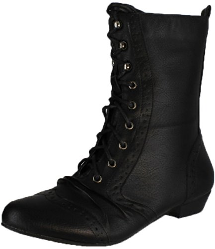 Refresh Structure Lee-01 Women's Mid Calf Combat Boots On Oxford Structure Refresh B005DD2JQC Shoes 8726d4