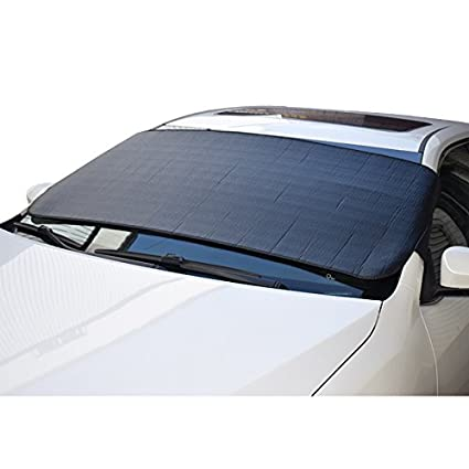 Amazon.com  Feiteplus Car Windshield Sun Shade UV Protection Black  Anti-theft  Automotive 8655f2055f8