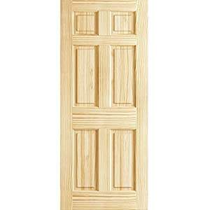 Door slab 8u00270 tall 2 panel arch v groove knotty pine interior wood sc 1 st door Solid wood six panel interior doors