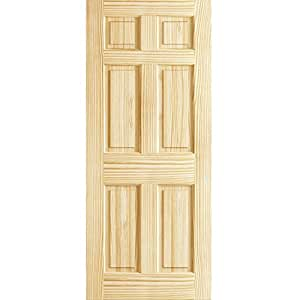 6 panel door interior slab solid pine 30x80 for 18 x 80 pantry door