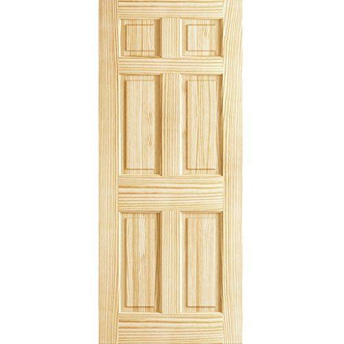 6-Panel Door Interior Slab, Solid Pine (80x36)