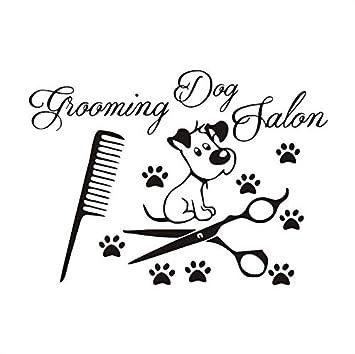 Peluquería para perros huellas divertidas de vinilo tatuajes de ...