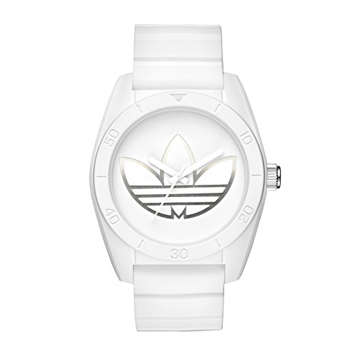 adidas Men's 'Santiago' Quartz Rubber and Silicone Casual Watch, Color:White (Model: ADH3198) - Adidas Watches For Men
