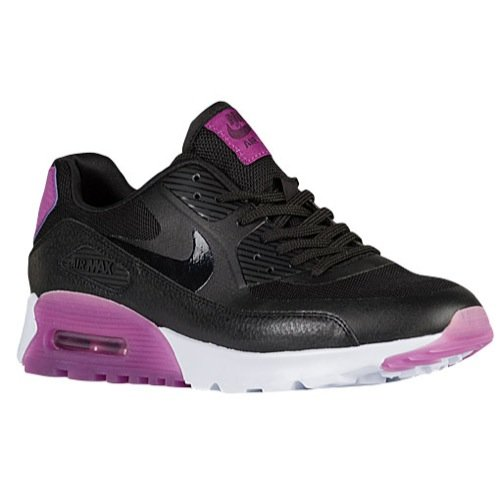 Nike Womens Air Max 90 Ultra Essential Trainers 724981 Sneakers Shoes (US 6.5, Black Purple Dusk Mulberry 003)