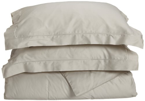 Tuscany Fine Linens (Tuscany Fine Italian Linens Milange 300 Thread Count Egyptian Cotton Full/Queen Duvet Cover Set, Oyster)