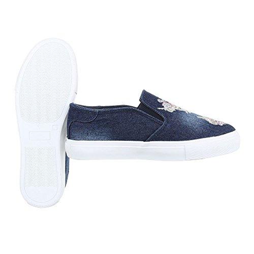 Ital-Design - Zapatillas de casa Mujer Blau 2503