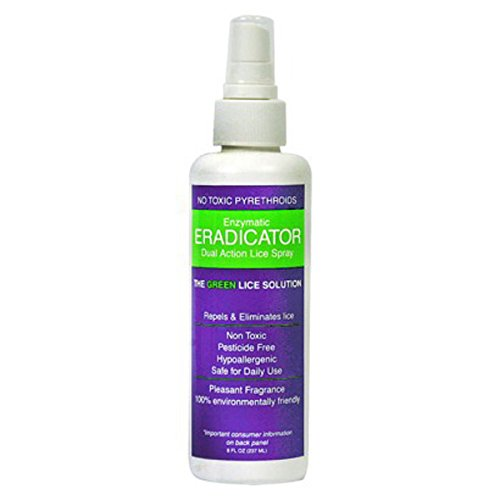 Lice ERADICATOR Repel, Natural Homeopathic Daily Lice Protection Spray, peppermint - 8oz spray by Lice ERADICATOR Repel