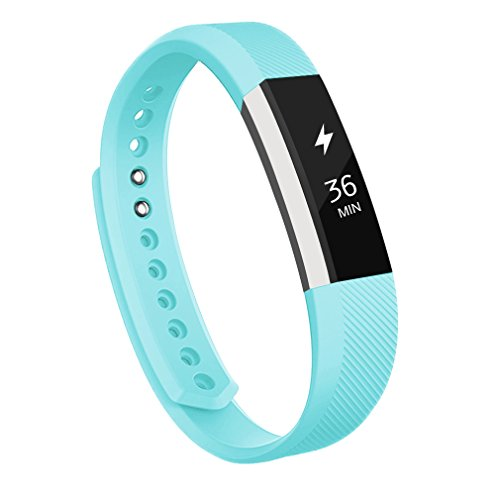 AK Replacement Bands for Fitbit Alta with Metal Clasp, Large, ()