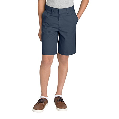 Dickies - Girls R0123 Stretch Slim Straight Pants, Size: 14 Husky, Color: Dark (Dickies Girl Stretch Shorts)
