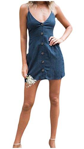 Bandage Couleur Coolred Bleu ze femmes De Trap Sangle Solide Sexy Robe Poitrine 8rw5fqT0r