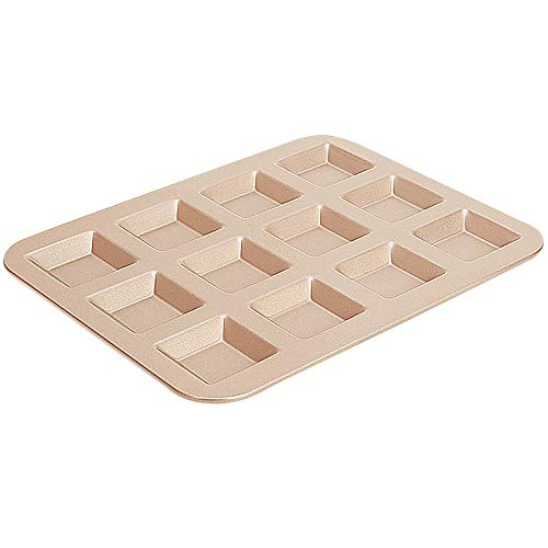 MyLifeUNIT Nonstick Mini Loaf Pan, 12-Cavity Financier Mold for Baking Cakes Biscuits -