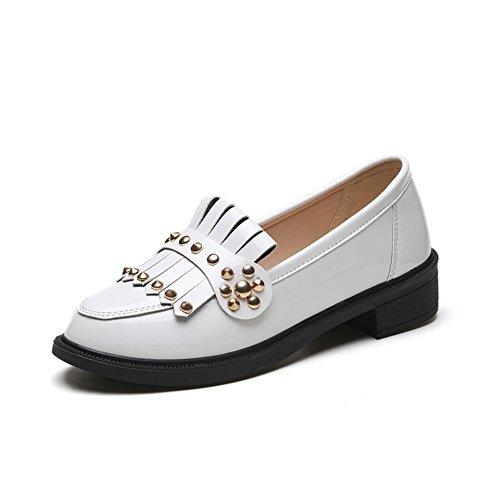 Primavera moda Lady Joker borla/zapatosocio Coreano plano femenino A