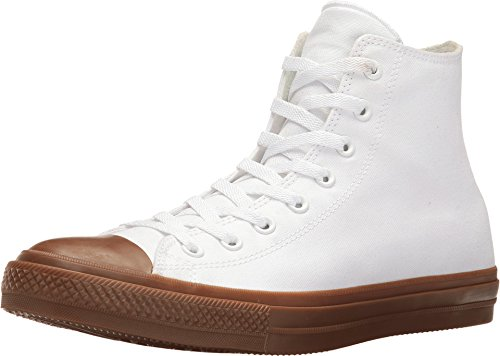 - Converse Mens Chuck Taylor II Hi Gum Pack White Canvas Trainers 10 US