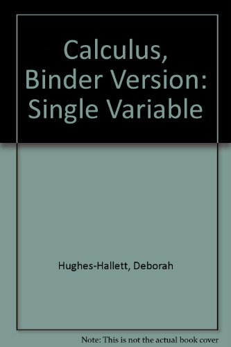 Calculus: Single Variable, Fifth Edition Binder Ready Version w/Binder Set