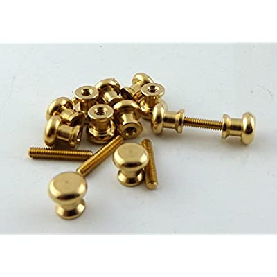 Melody Jane Dolls Houses House Miniature Door Furniture 12 Brass Knobs Handles 6 Screw Threads: Toys & Games
