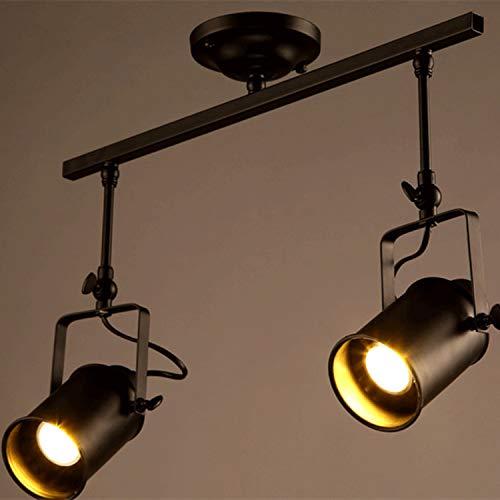 Shengyang, Outdoor Lights, Solar lights Outdoor, Rechte Bar Plafondspot, voor Woonkamer en Showroom-black||2 head