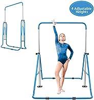 BEEYEO Gymnastics Bars for Kids Expandable Adjustable Height Gymnastic Horizontal Bars Folding Junior Training