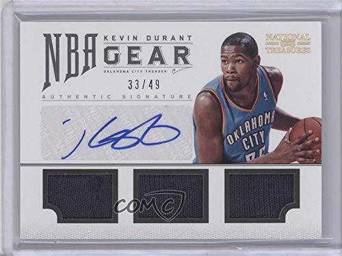 Kevin Durant #33/49 (Basketball Card) 2012-13 Panini National Treasures - NBA Gear Combos - Triple Autograph [Autographed] #4