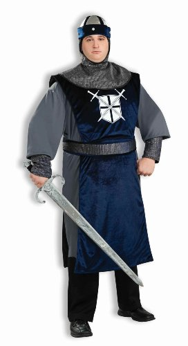Knight Of The Round Table Adult Costumes (Forum Plus Size Knight Of The Round Table Costume, Silver, Plus)