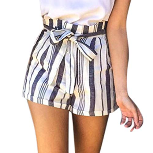 (XUEJIN Women's Casual Elastic Waist Summer Shorts Jersey Walking Shorts Navy)