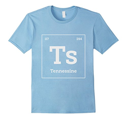 Geeky Halloween Costumes For Babies (Mens Tennessine Periodic Table Element Geeky Science Shirt Large Baby Blue)