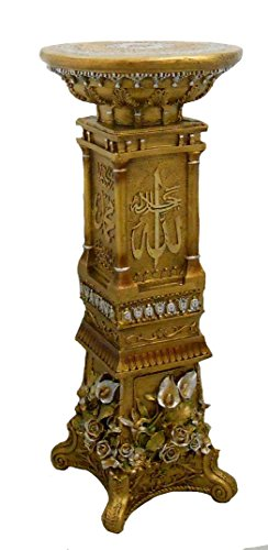 - Vintage Wood and Resin Column Pedestal Post Plant Statue Stand