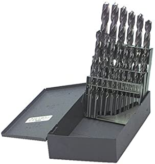product image for Kodiak Cutting Tools KCT120239 USA Made High Speed Steel Jobber Length Drill Bits Set in Metal Index, Black Oxide Finish, 118 Degree Point Style, 1/16-1/2 x 64ths Size Range (Pack of 29)