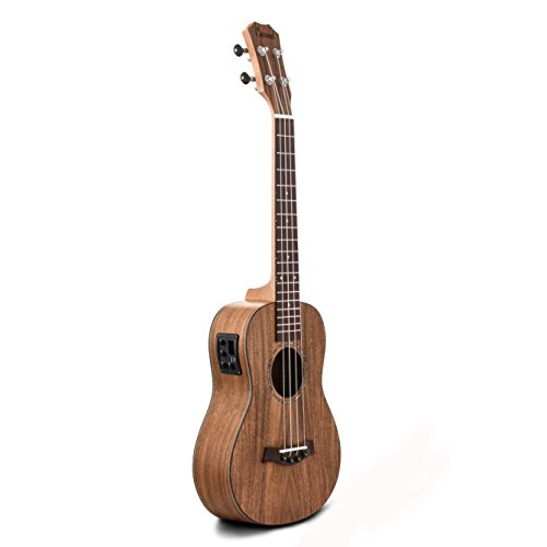 Caramel CB203 All Solid Acacia Baritone Acoustic & Electric Ukulele With Truss Rod by Caramel