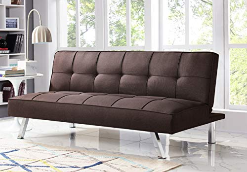 Serta RNE-3S-JV-SET Rane Collection Convertible Sofa, L66.1 x W33.1 x H29.5, Java (Best Convertible Sofa)