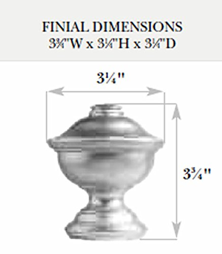 Kirsch Wood Trends Classics Chaucer Finial, for 1 3/8'' pole, Coffee (MPN# 36807841) by Kirsch (Image #1)