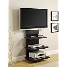 Altra Furniture Hollow Core AltraMount TV Stand with Mount for TVs Up to 60-Inch, Black Espresso