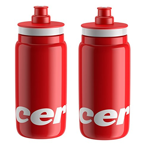 France De Bottle Tour Water (Elite Fly Cervelo Cycling Water Bottles - Red, 550ml (2 Pack))