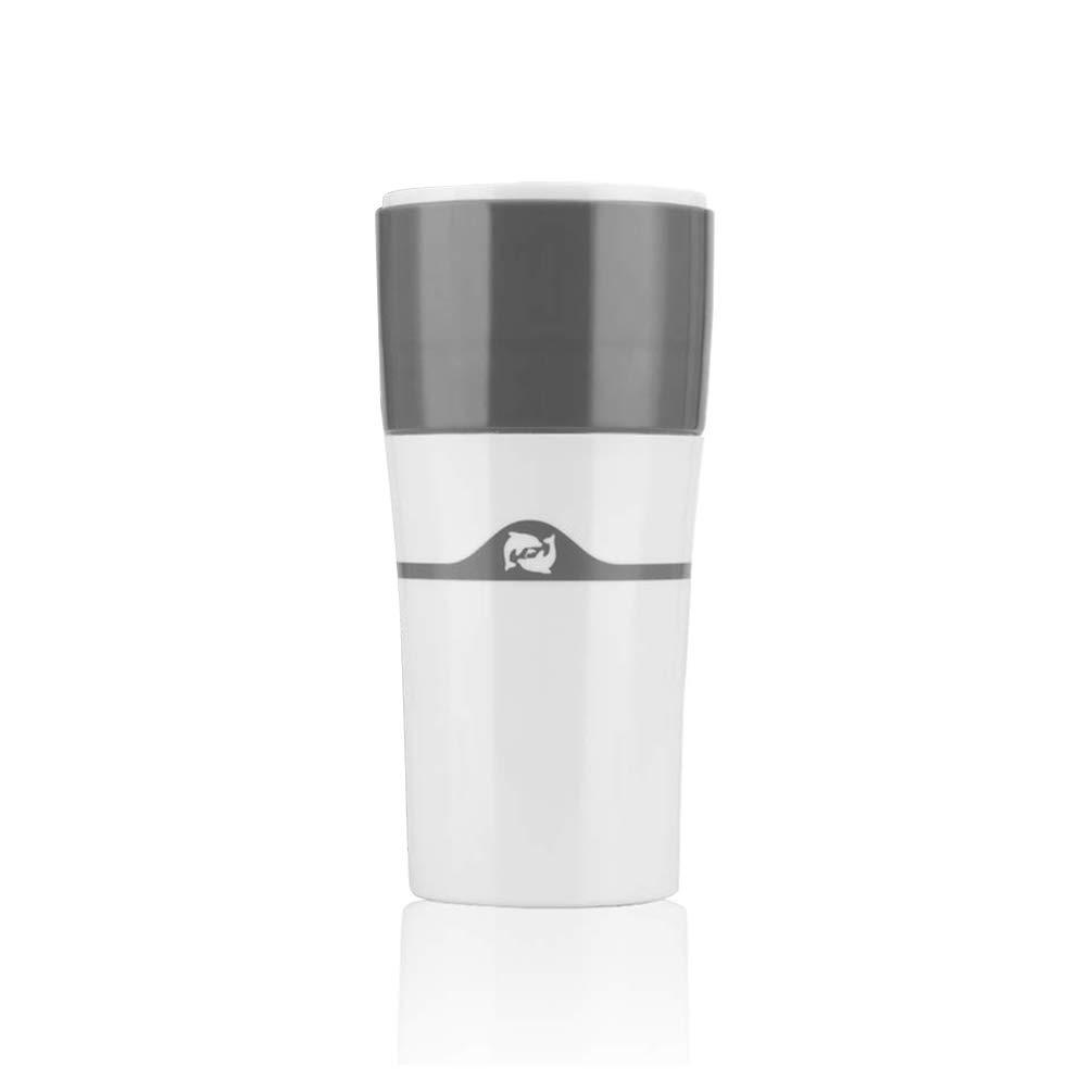 Acquisto Tazza da Caffè Antigoccia, Comoda e Pratica Doccetta per Caffè, Compatibile con le Cialde di Caffè Ricaricabili per Caffettiere Calde e Fredde – Grigio Bianco Prezzi offerta