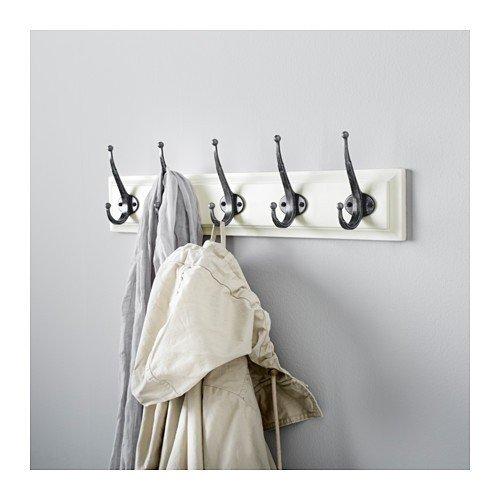 Ikea Leksvik Leiste Mit 5 Haken Weiß