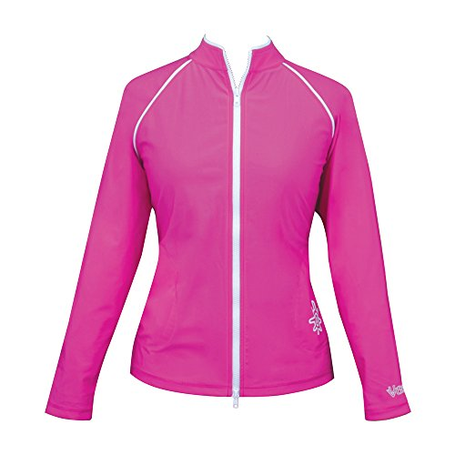 UV SKINZ UPF50+ Womens Water Jacket-Hot Pink-2XL
