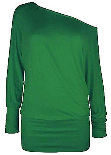 Maniche lunghe a Verde manica online asfashion Donna lunga Maglia Basic 0OYOwpx
