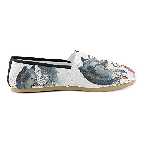 D-histoire Mode Baskets Appartements Basket-ball Intégré Dans Un Mur De Briques Femmes Classique Slip-on Chaussures Chaussures Mocassins Multi2