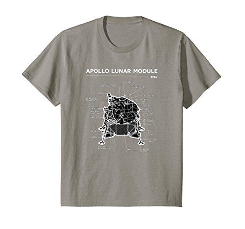 Kids Lunar Module First Moon Landing 1969 T Shirt 4 Slate