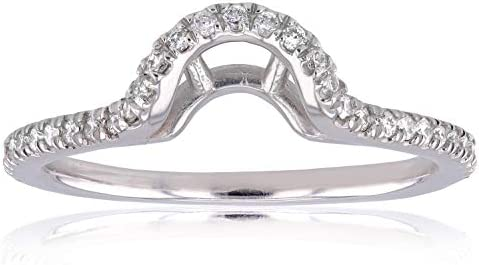 Kobelli Oval Contoured Diamond Wedding Band 1/5 CTW in 14k White Gold