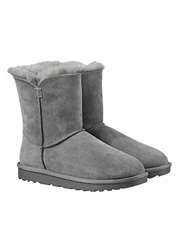Kirkland Signature Ladies Genuine Sheepskin - Shearling Lining - Zipper Boots Grey (Ladies Sheepskin Boots)