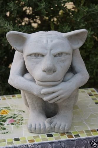 webstatue Dito Concrete Gargoyle Outdoor Garden Decor Sculpture Patio Gothic Medievel Halloween Guardian For Sale