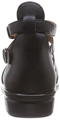 Ganter SONNICA HS, Weite E - Sandalias de vestir de cuero para mujer negro - Schwarz (schwarz 0100)