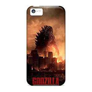 JohnPrimeauMaurice Iphone 5c Shockproof Cell-phone Hard Covers Custom Nice 2014 Godzilla Pattern [oBN9193EnUs]