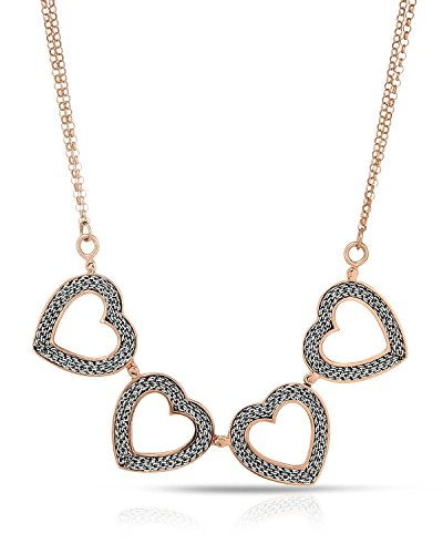 Adami   Martucci Sterling Silver Heart Women Necklace  Total Item Weight 14 8 G