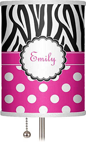"RNK Shops Zebra Print & Polka Dots 7"" Drum Lamp Shade Polyester (Personalized)"
