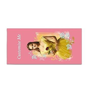 Oficial Disney belleza personalizada y la bestia Belle Rose toalla (grande): Amazon.es: Hogar
