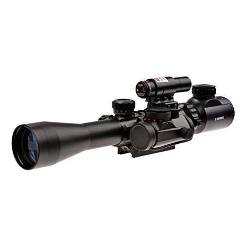 Coocheer 3 In 1 Tactical Combo Rifle Scope Hunting Scope 3-9